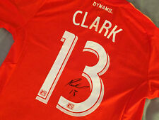 MLS Houston Dynamo RICARDO CLARK Signed Autographed Soccer Jersey USMNT USA Rare