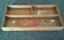 Vintage Antique Oak Wood Fitted Box Drawer Tray Only #5759 Stamped