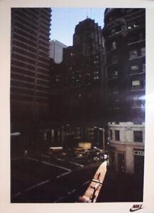 -Original- 1980s -NIKE- Vintage Urban Runner Shoes/Sneakers Advertising Poster