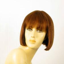 perruque femme 100% cheveux naturel châtain clair cuivré ref ELISA 30