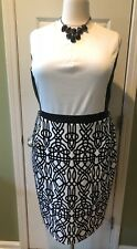 City Chic Blck & White Embroidered Dress Size 22 Orig $99