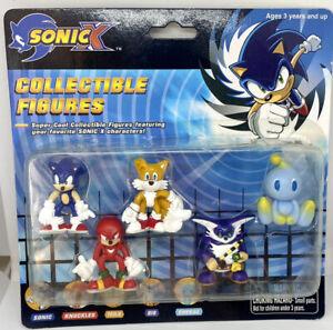 RARE Sonic X Collectible 5 Pack Figure Set FEVA 2004 Sega
