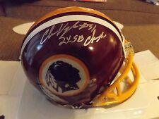 Clarence Vaughn Signed Mini Helmet Washington Redskins 2X Super Bowl Champs SCH
