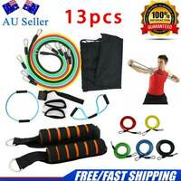 Set 13PCS Resistance Bands Workout Exercise Yoga Set Crossfit Fitness Tubes