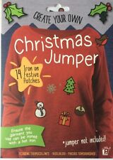 CHRISTMAS JUMPER FESTIVE PATCHES  CONTENTS 14 X IRON ON  PATCHES CREATE YOUR OWN