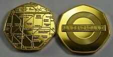 Superb LONDON UNDERGROUND 24ct Gold Commemorative. Subway/Railway/Tube