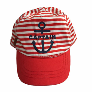 Old Navy Baseball Cap Hat Kid's Youth Toddler Nautical Boat Theme Anchor Captain