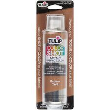 Tulip Color Shot Instant Fabric Color Spray 3oz-Brown