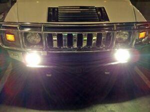 Large Bumper Grille Driving Lights Kit for Hummer H2 H3