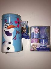 "Disney ""FROZEN OLAF"" LED 5"" Pillar & 4 Pc 1.75"" Votive Candle Set NEW"