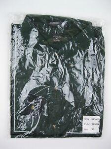 JONATHAN COREY Men Dress Shirt Button-down Green Short Sleeve Extra Large NWOT