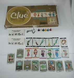 Vintage 1960 Clue Replacement parts