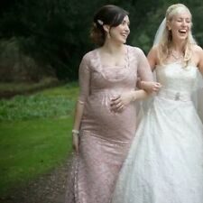 Maternity Dress Fishtail Size 10 Bridesmaid Dusty Pink Lace Klue Bridal Designer
