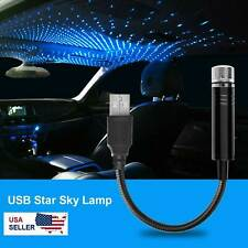 Usb Car Interior Roof Led Star Night Light Atmosphere Starry Sky Projector Lamp