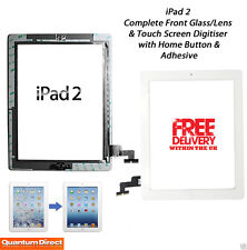 NEW Complete Front Glass/Digitiser Touch Screen/Panel Assembly FOR iPad 2 WHITE