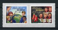 Switzerland 2017 MNH Pro Juventute At School Christmas Carols 2v S/A Set Stamps