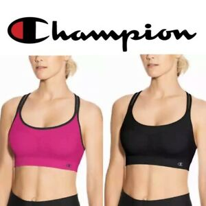 """Champion®  Women's Seamless Criss Cross Bras 2-Pack  """"DOUBLE DRY & STRETCH"""""""