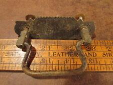 Vintage brass Door pulls Knob dresser drawer ornate eastlake era sail boat plate