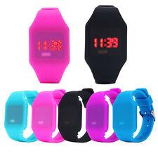 Hombre Y Mujer Silicona LED Reloj Deportivo Pulsera Digital Resistente al agua