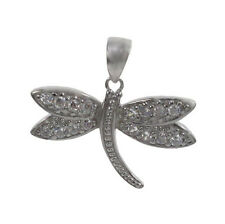STERLING SILVER 925 DRAGON FLY PENDANT NECKLACE WITH STERLING SILVER 925 CHAIN