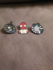 Futurama Custom Enamel Pin Lot Of 3 Bender Fry Zoidberg