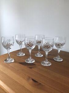 SET OF 6 CRYSTAL SHERRY/PORT GLASSES