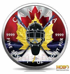 HOCKEY Maple Leaf 1 Oz Silver Coin 5$ Canada 2020