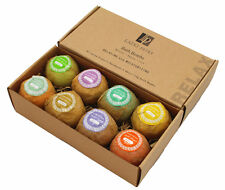 8 Lush Bath Bombs Gift Set - Natural Oil Spa Bomb Fizzies - Relaxation for Skin