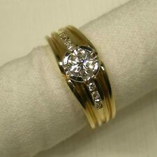 Vintage Ring 1991 White Gold and Yellow 18 CT Diamond Handmade 20105