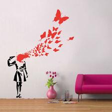 Banksy Suicide Girl Butterfly Vinyl Wall Sticker Decal Bedroom Graffiti Street