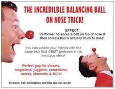 Comedy BALANCING BALL ON NOSE Magic Trick Stunt Kid Show Funny Clown Gag Joke