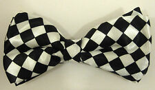 MEN'S/LADIES/ADULT SHINY SATIN FINISH PRE-TIED PATTERNED FASHION BOW TIES