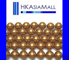 50pcs Swarovski Crystal Beads Pearl 5810 6mm COPPER