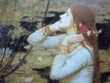 "Pre-Raphaelite OPHELIA Hamlet Shakespeare print girl J. W. Waterhouse 7"" x 5"""