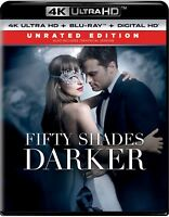 Fifty Shades Darker Unrated Edition 4K Ultra HD, Blu-ray, & Digital HD Brand NEW