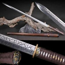Hand Forged Japan Samurai Sword Katana Full Tang Sword T10 Steel Sharp Blade #16