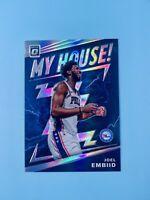 Joel Embiid 2019-20 Donruss Optic Silver Prizm MY HOUSE Philadelphia 76ers CLEAN