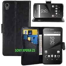 BLACK WALLET CARD SLOT stand GEL CASE FOR SONY PHONE UK seller free dispatch