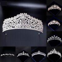 New Bridal Crown Crystal Elegant Jewelry Tiara Brides Wedding Hair Accessories