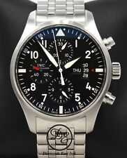 IWC Pilot IW377704 Black Dial Chronograph 43mm Automatic Mens Watch *MINT*