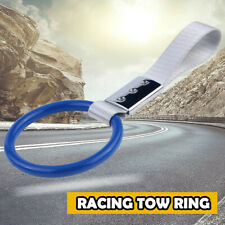 Car Truck Blue High Strength Racing Tow Towing Halo Hook Front Rear Bumper