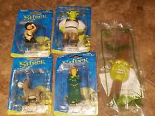 Dreamworks Shrek 2 Puss In Boots Cat Fiona Ogre Donkey Figurine Pvc Toy Lot of 4