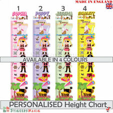 Personalised Height Chart Wall Sticker Kids Childrens Girl Pirate Room Nursery
