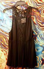 BKE boutique MED BLACK DRESS TOP TANK TOP BLOUSE