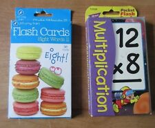 Two Pocket Flash Cards: Multiplication and Sight Words Ii