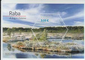 Estonia 2016 Raba The Bog odd shape hexagonal stamp Miniature sheet