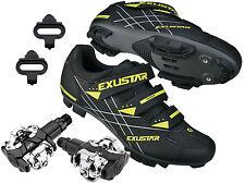 EXUSTAR E-SM366 Mountain Bike Bicycle Cycling Shimano SPD Shoes + VP Pedals
