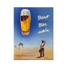 Nostalgic-Art 14117 Open bar - Bier Durst Magnet 8x6 Cm