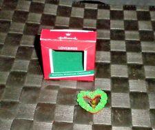 "1989 Hallmark Keepsake Miniature Ornament ""Lovebirds"""