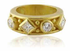 Doris Panos Estate 18K Yellow Gold & 0.70ct Diamond Band Ring c.1994, Sz:5
